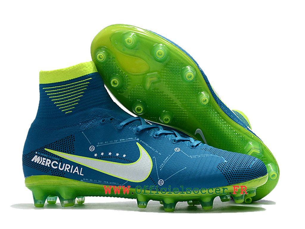 huge discount 84252 0149d Crampons de football Nike Youth Mercurial SuperFly V FG Neymar Bleu blanc