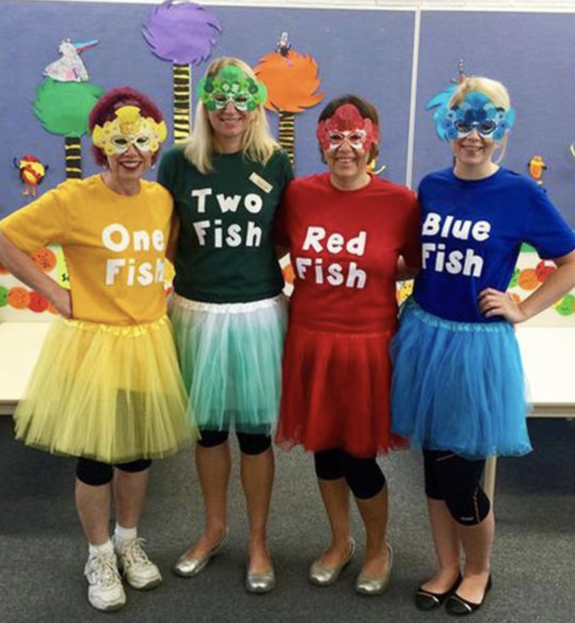 best character costumes + awesome teacher group costume ideas | dr seuss costumes