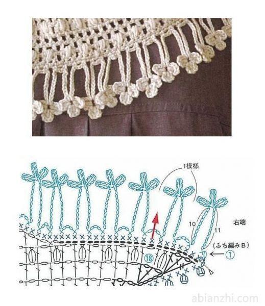 Patrones Crochet: 10 Patrones Pañuelos Cadenetas | KNITTING.CROCHET ...