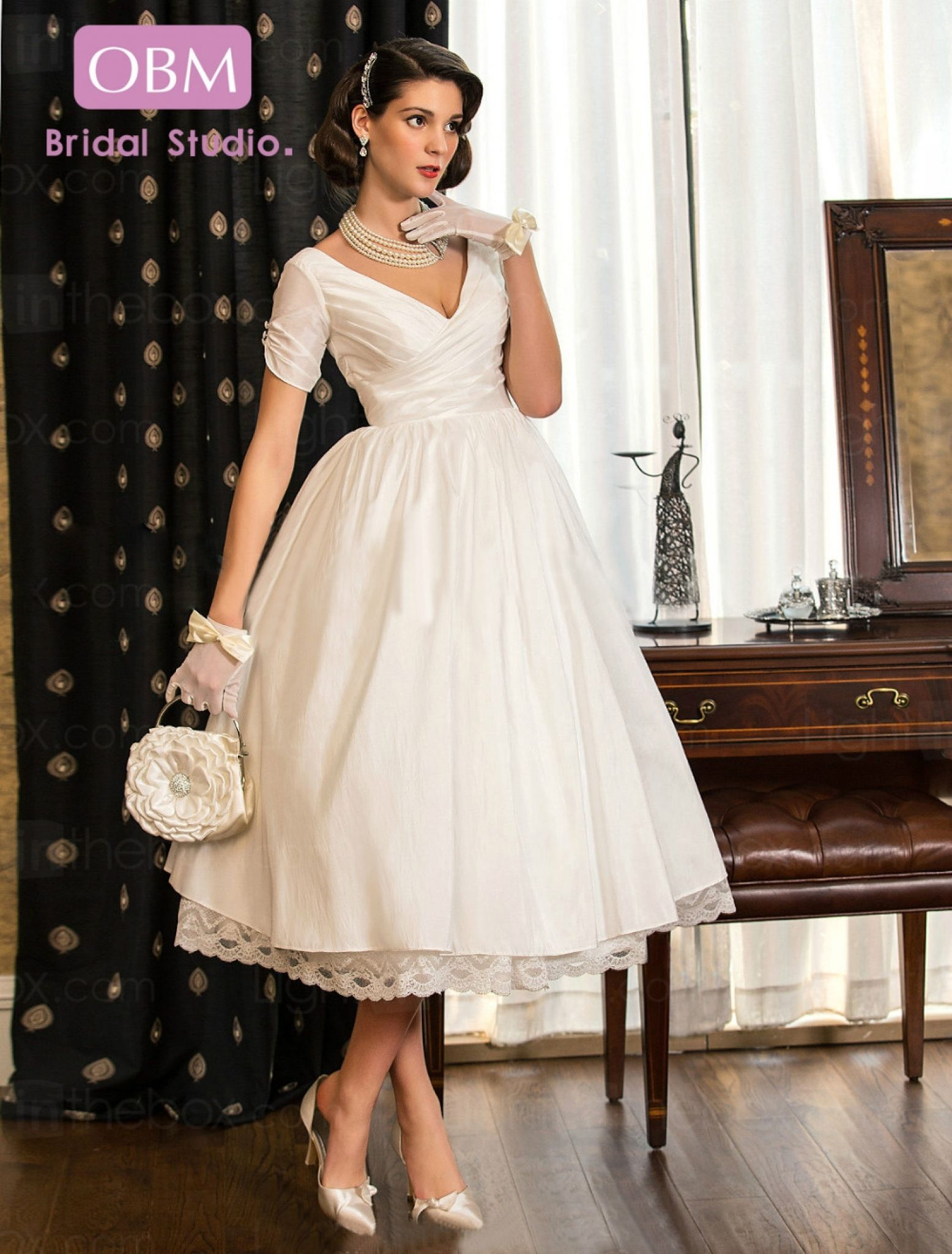 Tea Length Wedding Dresses Plus Size For Guest At Check More Http