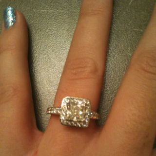My engagement ring! Its perfect.