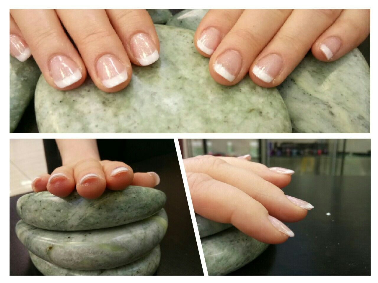 Backfill On Gel Nail Extensions Using Reverse French Technique Gel Nail Extensions Gel Nails Nails