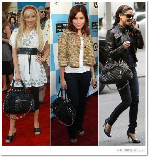 Ashley Tisdale vs. Sophia Bush vs. Vanessa Minnillo - Marc Jacobs Quilted Stam Bag