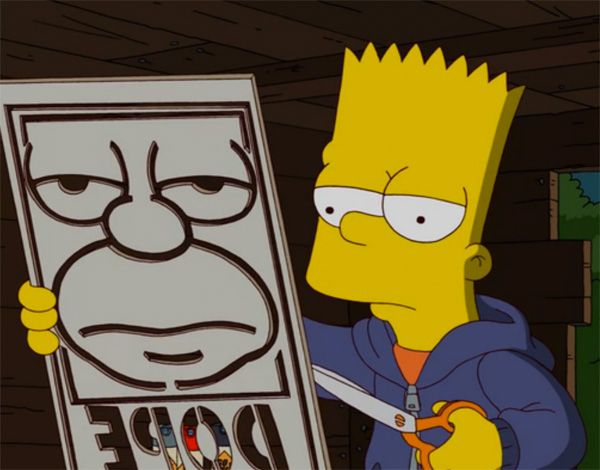 "Shepard Fairey x The Simpsons ""Dope"" Poster"