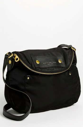 $198, Black Canvas Crossbody Bag: Marc by Marc Jacobs Preppy Nylon Natasha Crossbody  Bag Black. Sold by Nordstrom. Click for more info: https://loo…