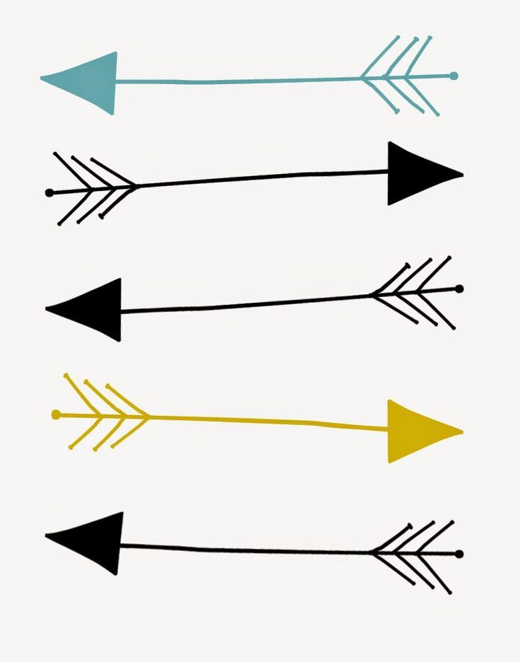 Revered image in free printable arrows
