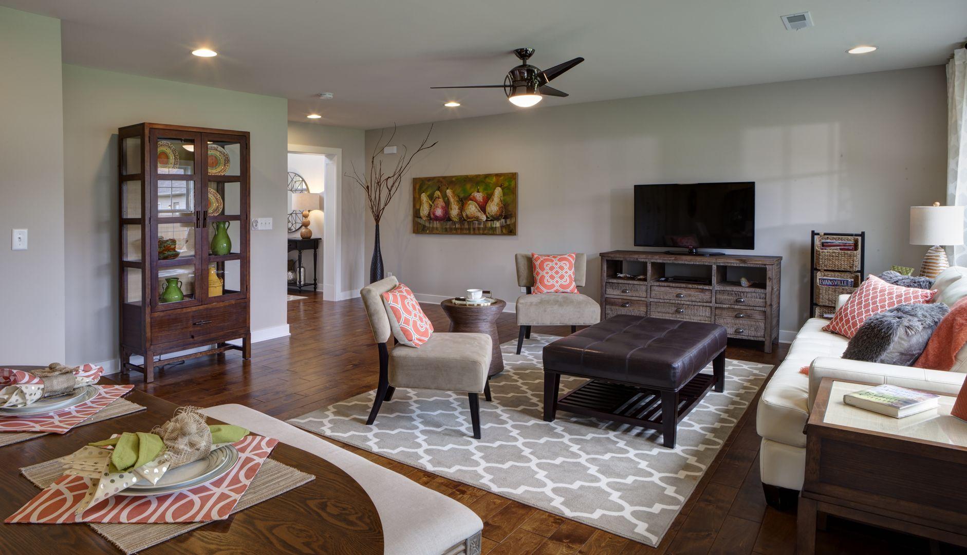 Cumberland B Floor Plan - Living Room - Cayman Ridge - Evansville