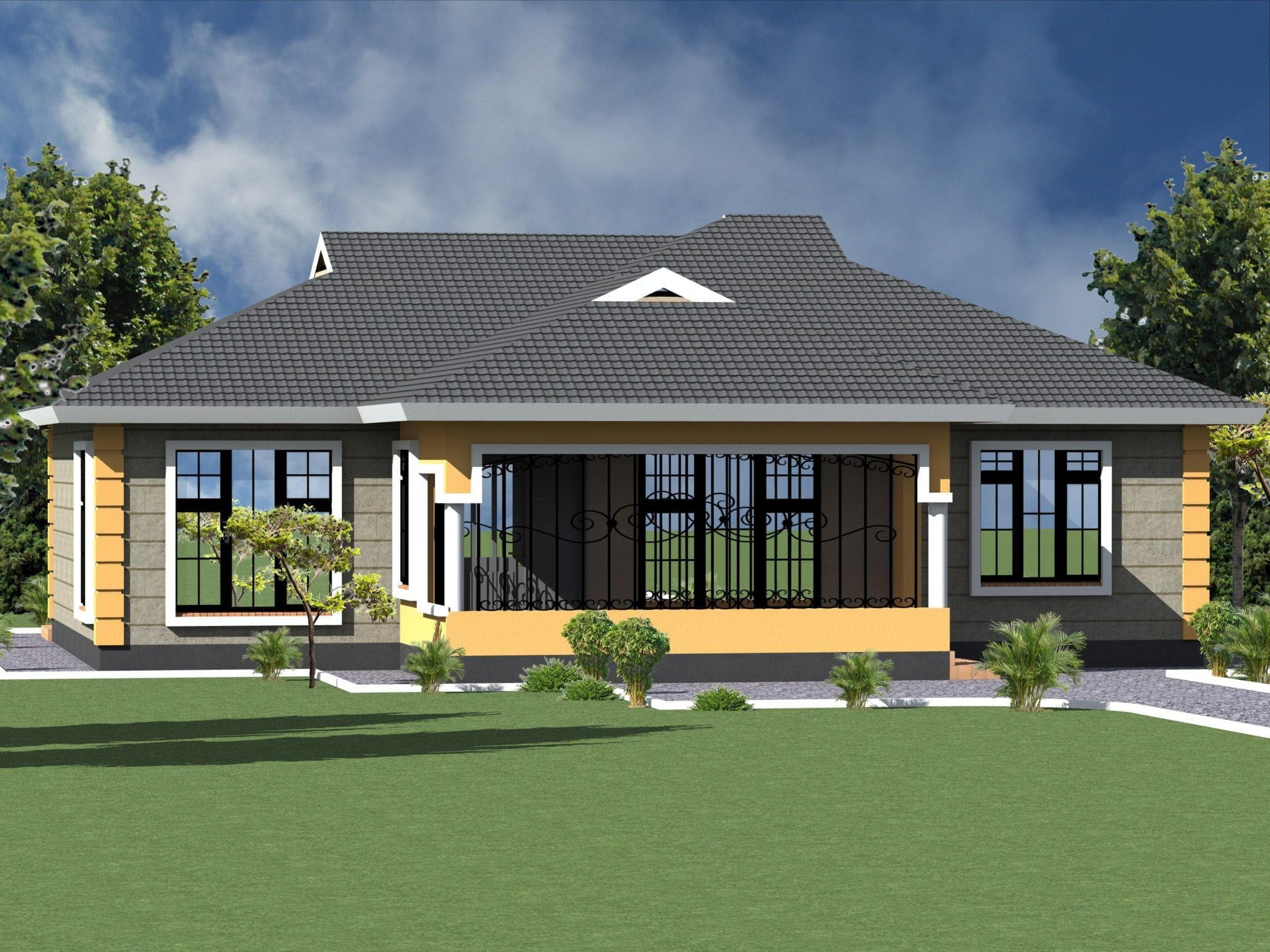 Best House Plans In Kenya In 2020 Modern Bungalow House House Construction Plan Bungalow House Design