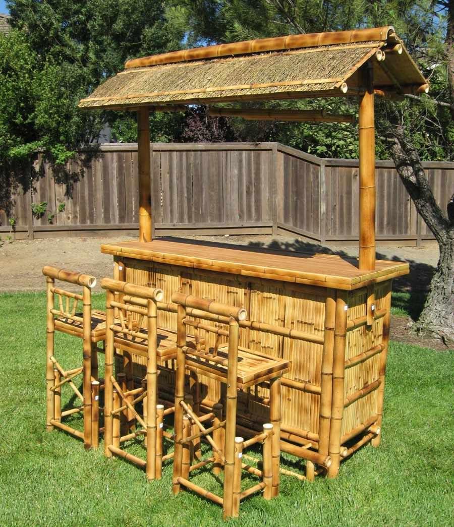 Tiki Bar Stools Set Furniture Garden Design Ideas | House ...