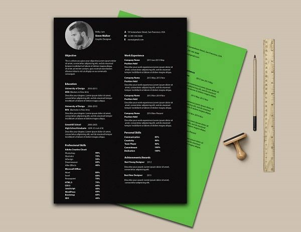 Free Editable CvResume Templates For Ps  Ai  Mockup And