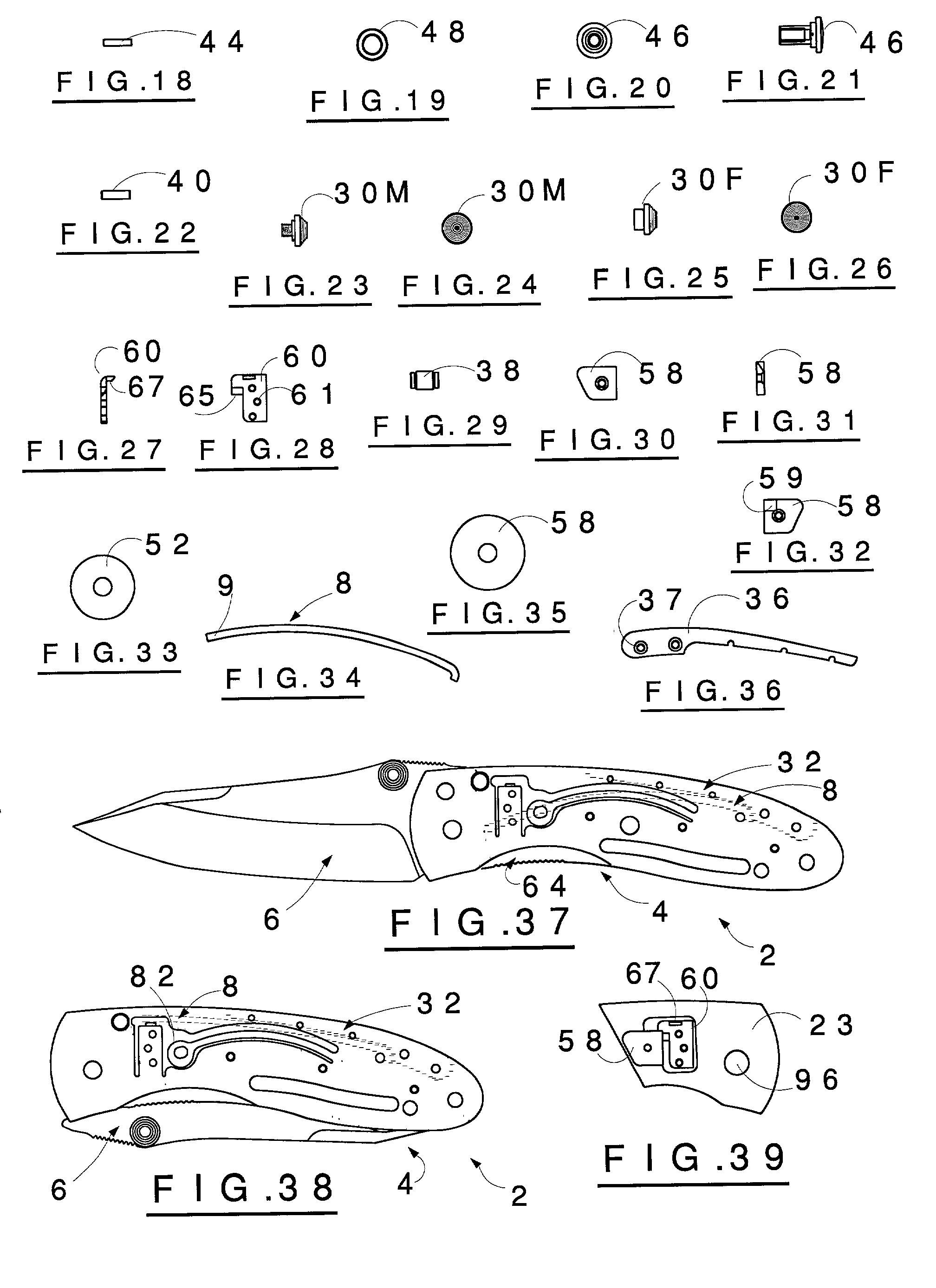 Brevet US20020104220 - Hidden trigger double action folding knives - GoogleBrevets