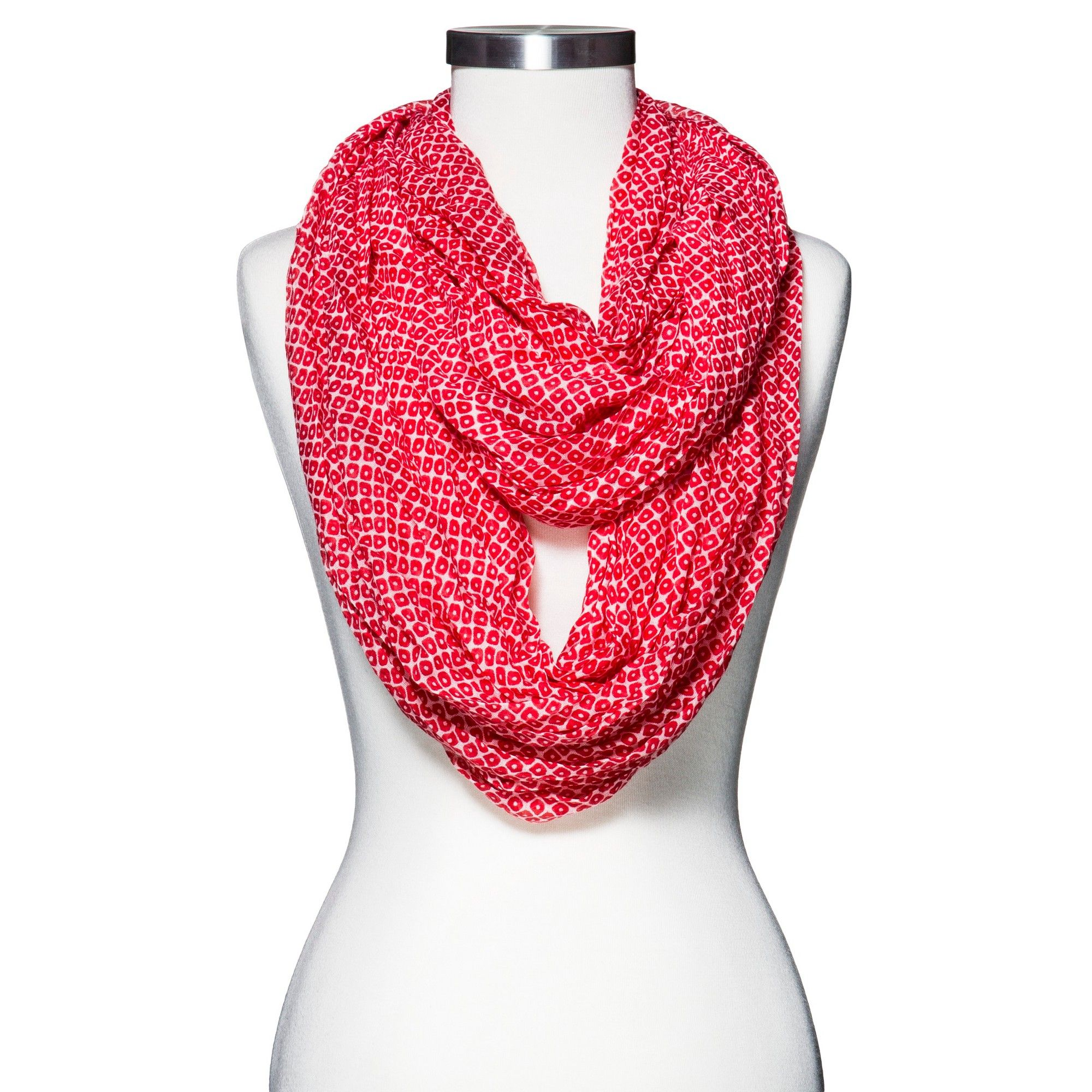 New Colour Gorgeous Vintage Style Floral Circle Loop Infinity Scarf Snood