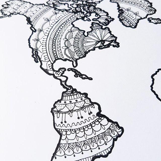 World map progress josmithcreative gigglydesign paisley world map progress josmithcreative gigglydesign paisley zentangle mandala mandalaart gumiabroncs Images
