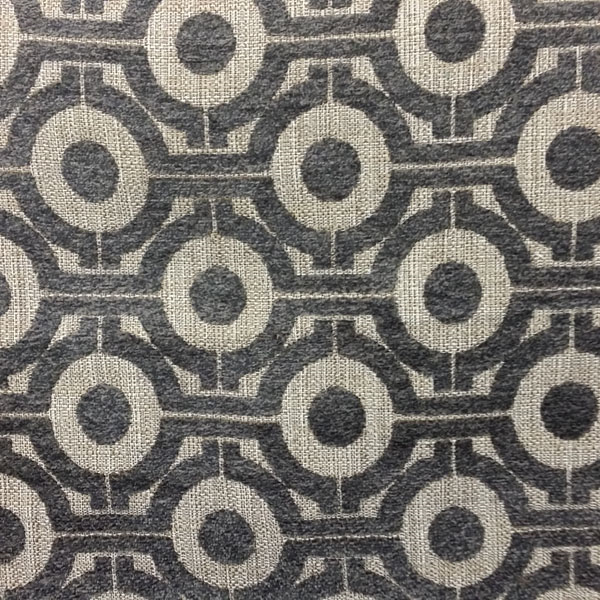 This Is A Gray And Natural Woven Geometric Design Upholstery Fabric,  Suitable For Any Decor