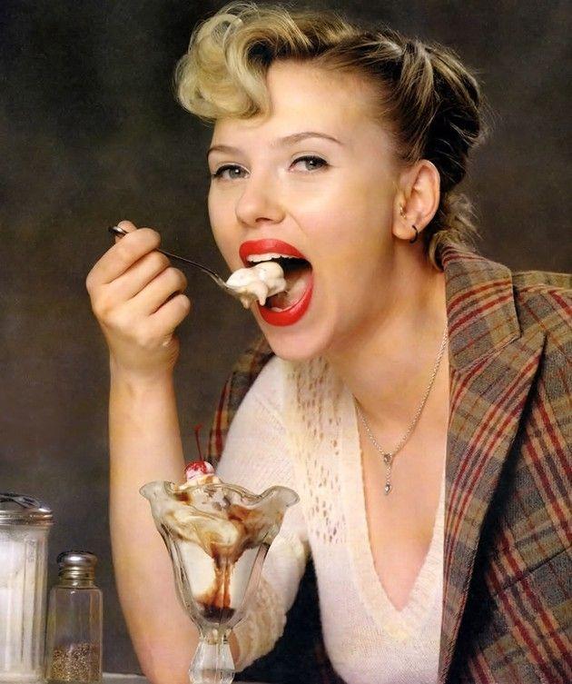 Resultado de imagen de actores de hollywood comiendo helado