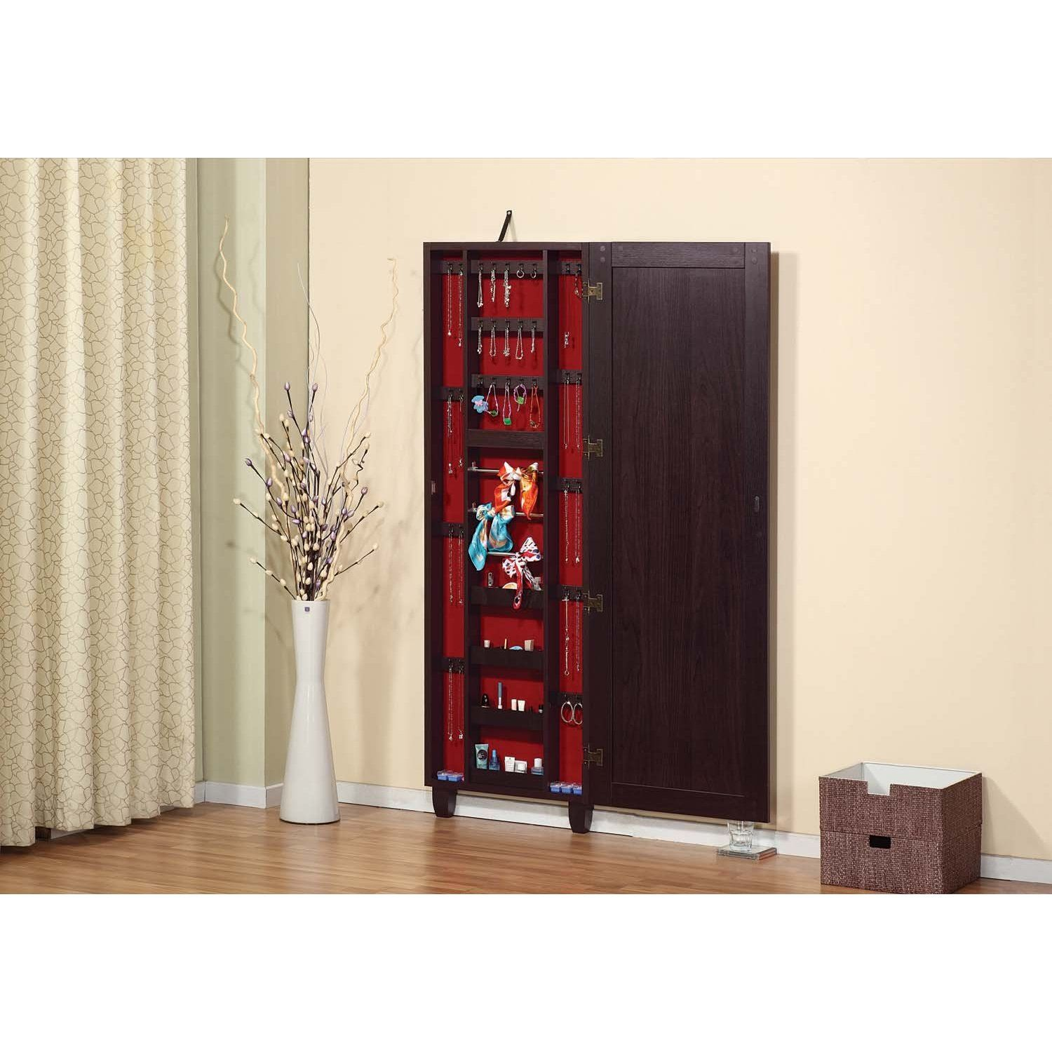 FurnitureMaxx Clara Wall Mount Mirrors with Jewelry Armoire