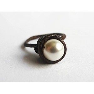 The Promise Pearl Solitaire Ring by PeeTeeDee Concepts is a classic staple for every woman!