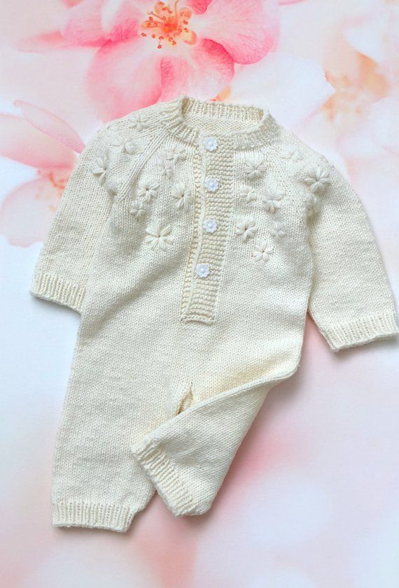 c33eac41dd9e Free shipping Baby knit white onesie Baby knit romper Newborn knit ...