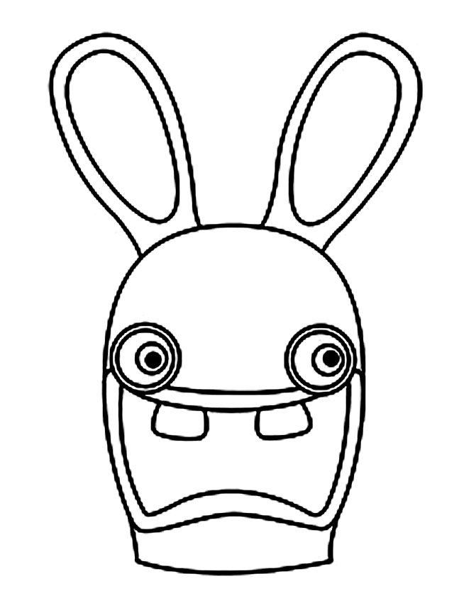 coloriage lapin crtin coloriage de portrait de lapin crtin - Coloriage De Lapin