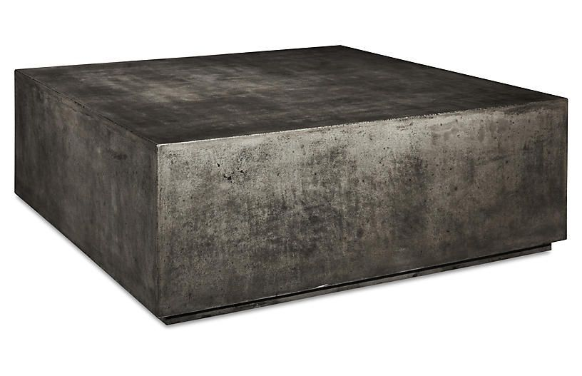 Bloc 40 Coffee Table Gray Concrete Cool Coffee Tables Coffee
