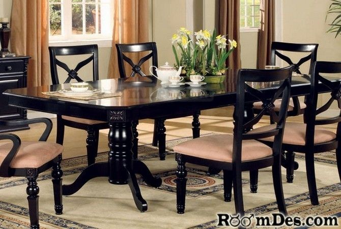 Ashley Furniture Dining Room Dining Table Black Granite
