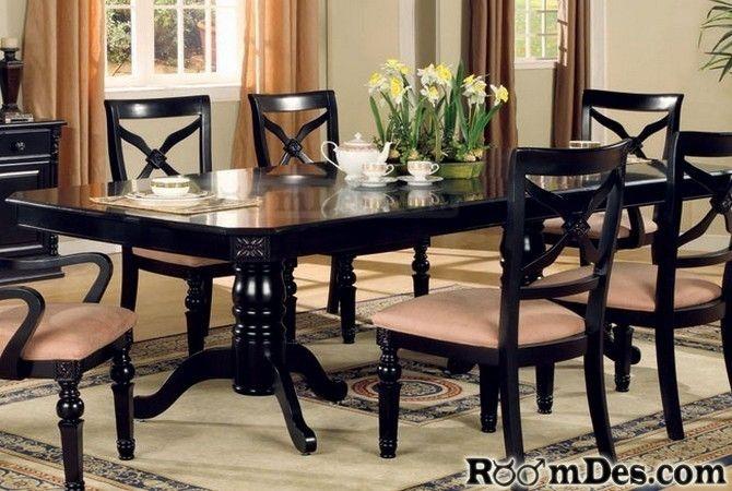 Ashley Furniture Dining Room Dining Table Black Granite