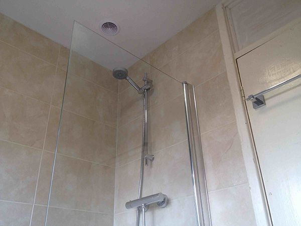 Thermostatic Shower Plus Inline Fan With Bathroom Installation In Fair Small Bathroom Fans Inspiration