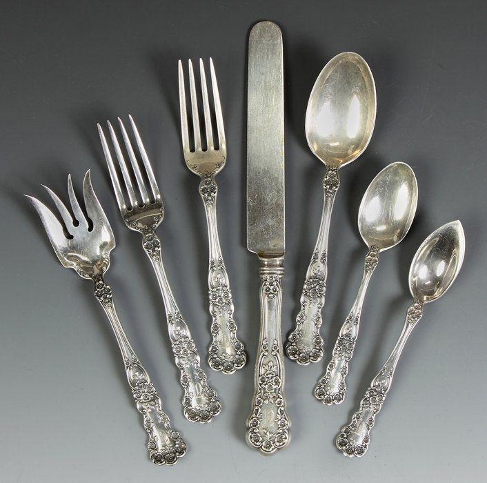 Old Mark Gorham Buttercup Sterling Silver Salad Fork