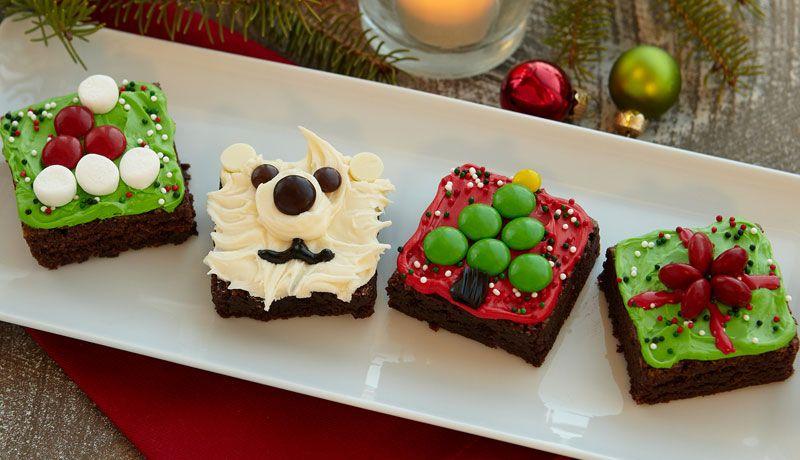 Christmas Brownie Squares Recipe Christmas desserts