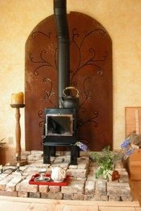 Wood Stove Surround Corner Living Rooms