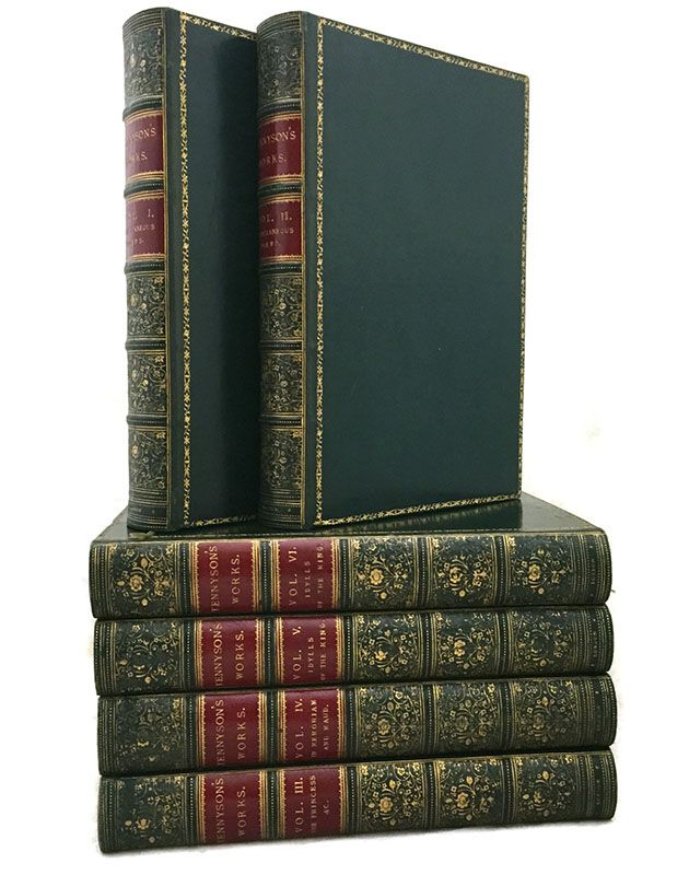 awesome The Works of Alfred Tennyson, Poet Laureate, Six Volumes - 1872-1873