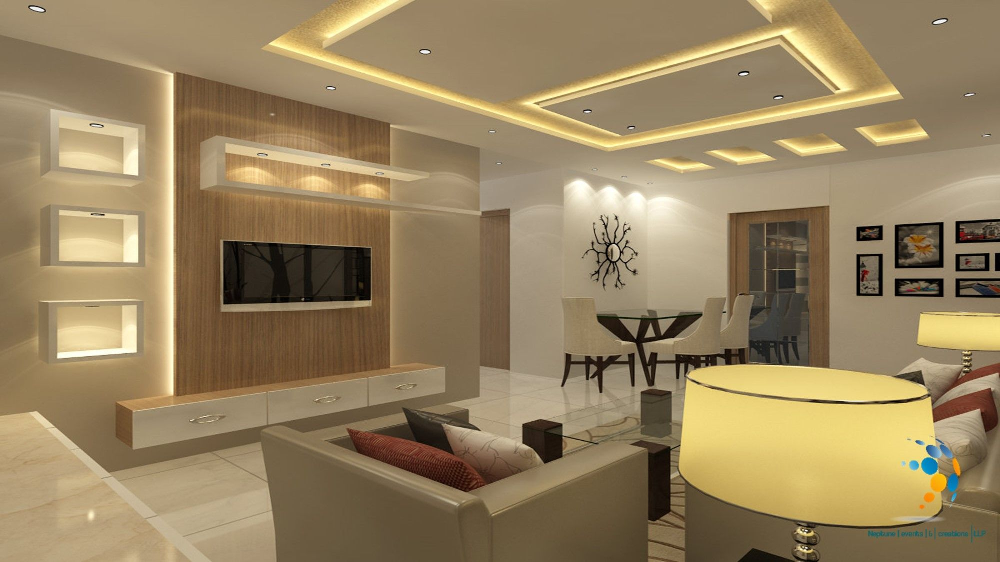 Living Room And Dining Room Perfectly Fitted Lcd Unit Execu