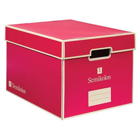 SemiKolon; Pink Letter Size Storage Box SMK3280006  sc 1 st  Pinterest & SemiKolon; Pink Letter Size Storage Box SMK3280006 | UrbanGirl ...