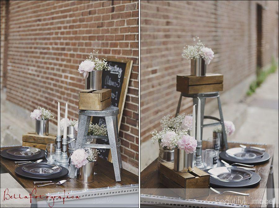 Industrial Wedding Reception Decor