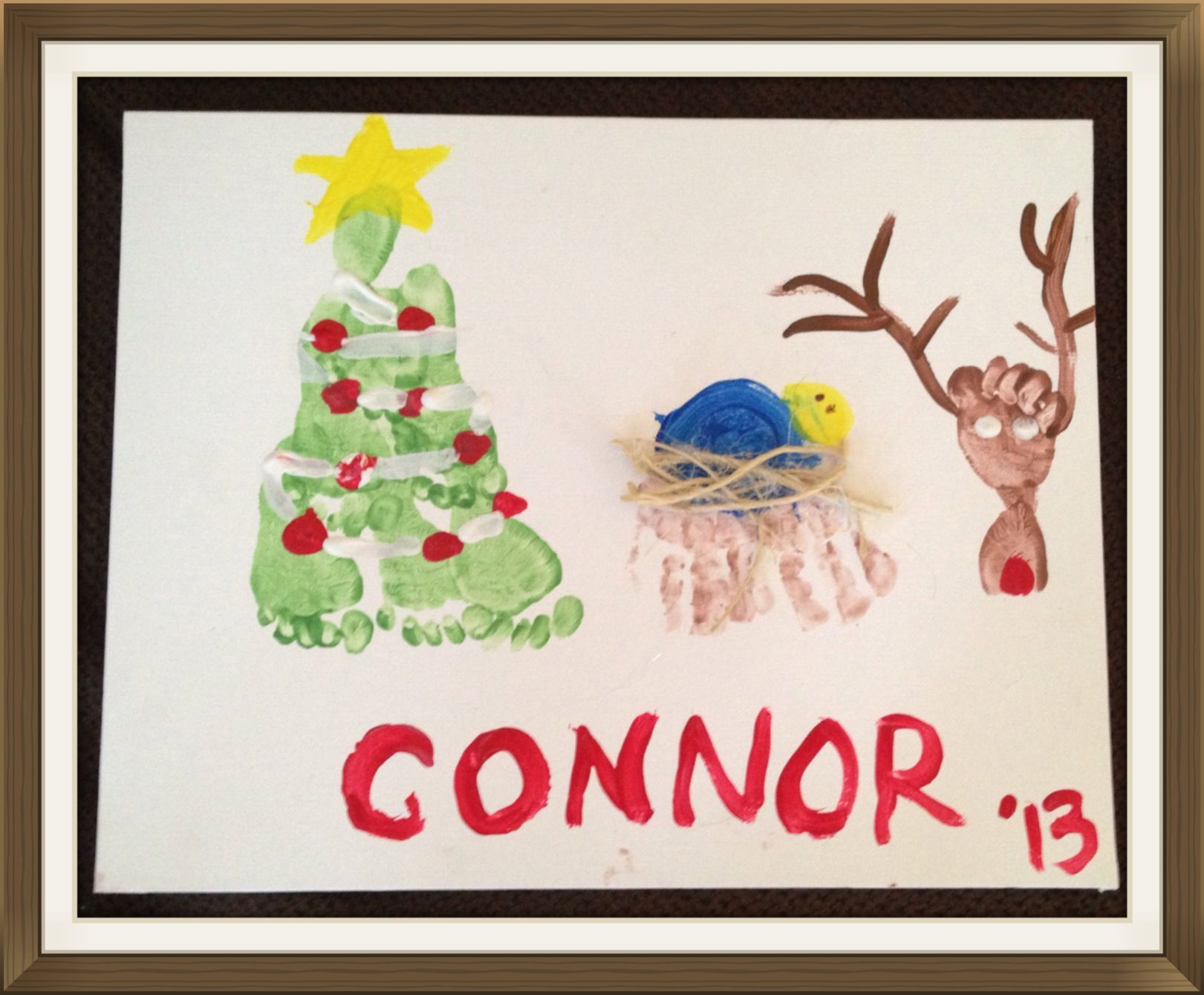 35+ Baby footprint christmas art inspirations