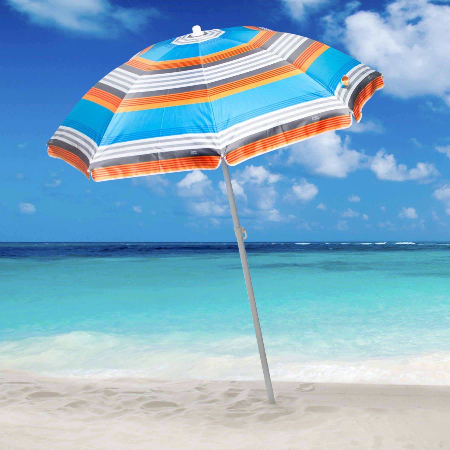 Beach Umbrella: Rio 6 Ft. Sun Blocking Beach Umbrella
