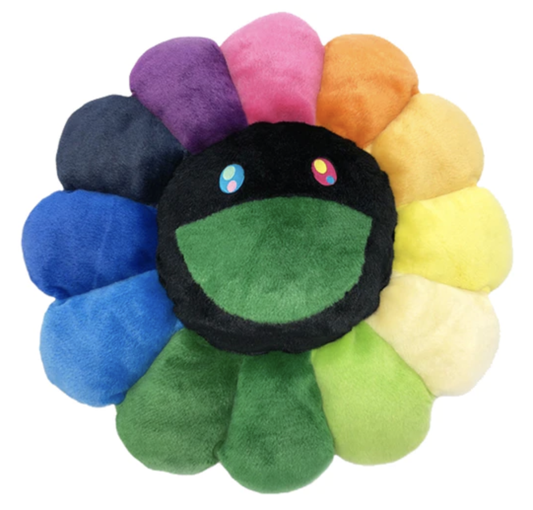 Takashi Murakami Flower 60cm Plush Rainbow/Black in 2020