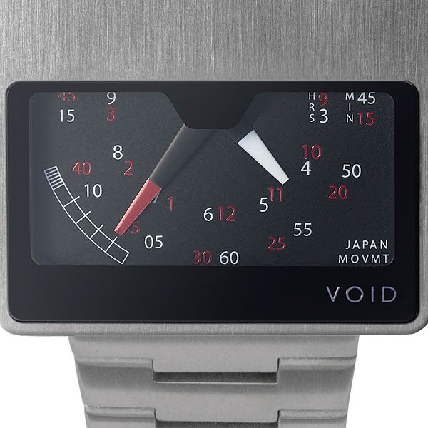 Void Watch Retro Gauge provides a speedometer-style dial.  Once you learn how to read it, then it is fairly easy (hint: use red numbers for red hand).  Quite different.  Cool.