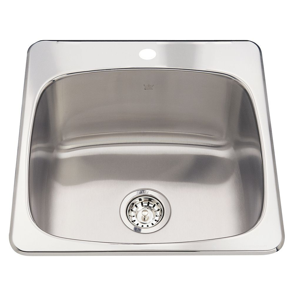 Single Sink 20 Ga 1 Hole Drilling Stainless Steel Utility Sink