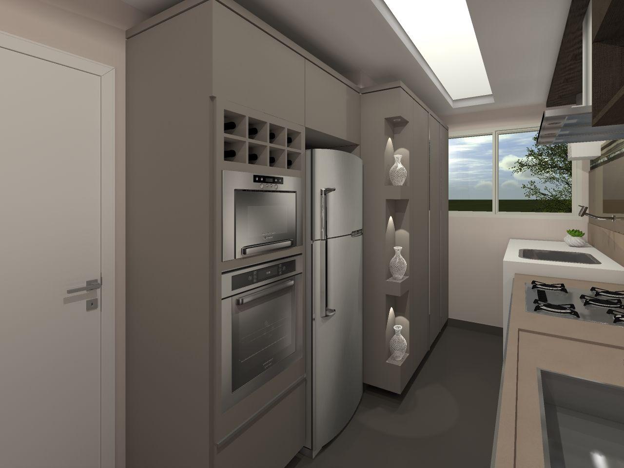 Cozinha Cozinha Nude Espelho Lavanderia Integrada Cozinha