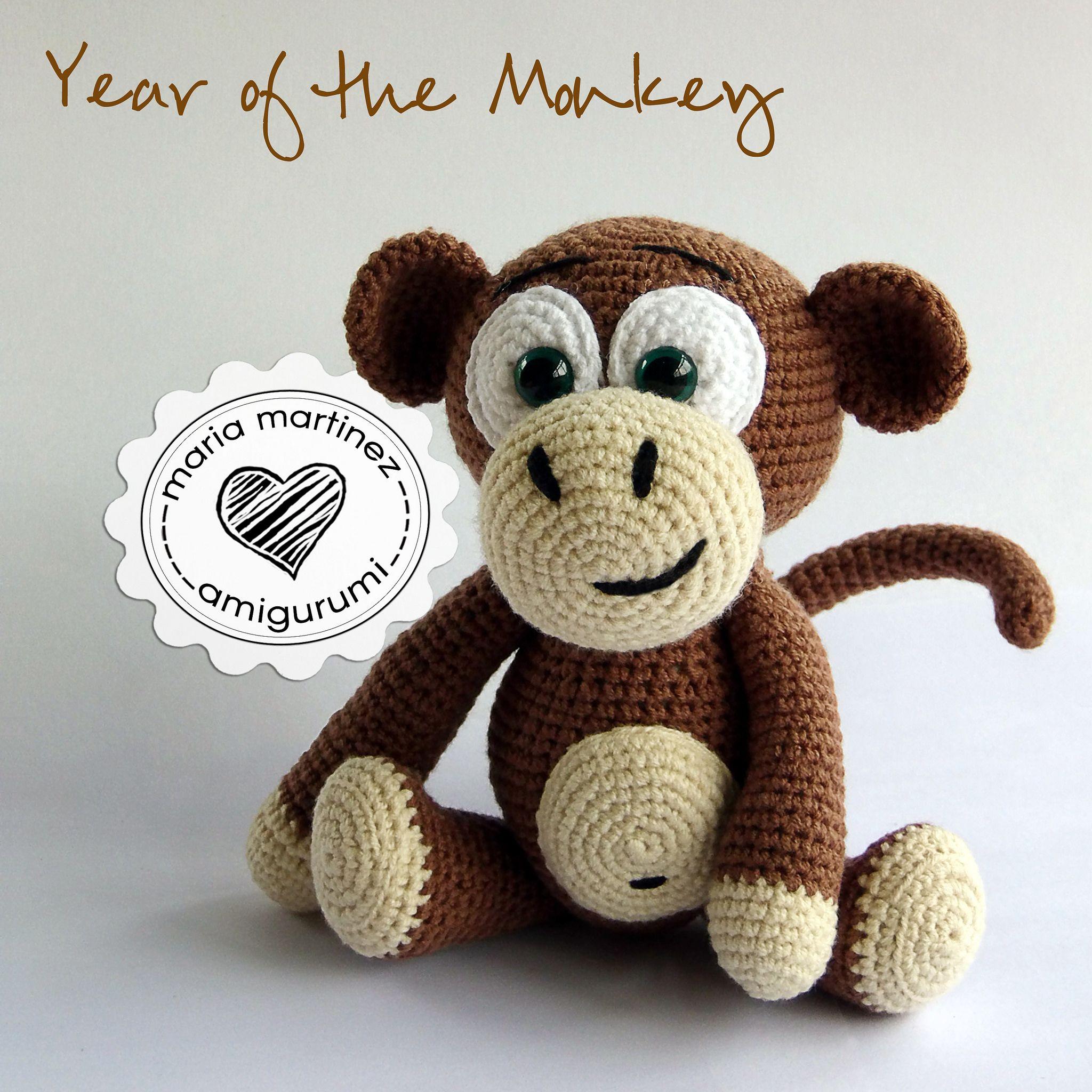 Maria Martinez Amigurumi Monkey Crochet | Patrones, Link y Miniaturas