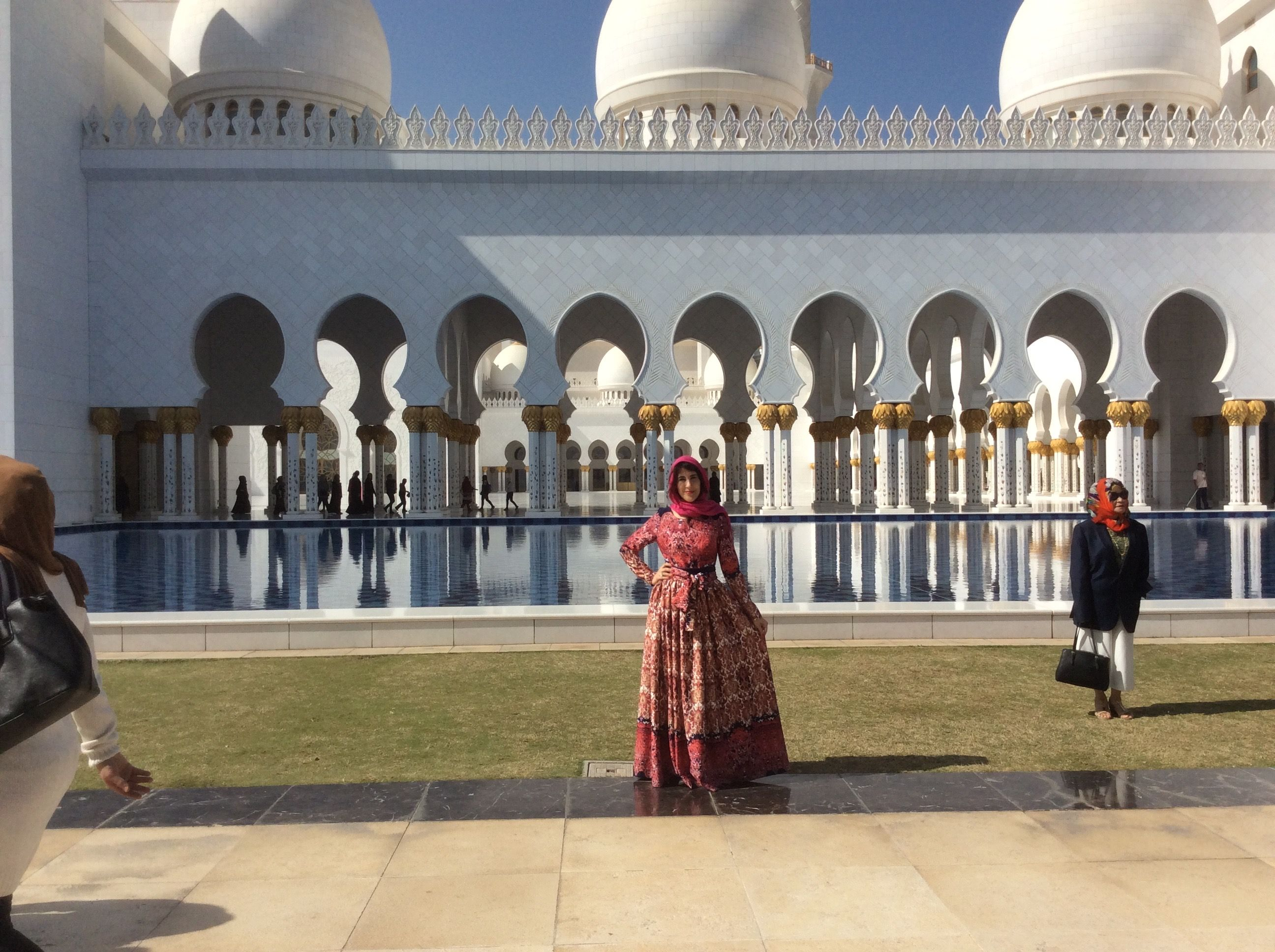 Oriental Style Maxi Dress By Zori G In Front Of Sheikh Zayed