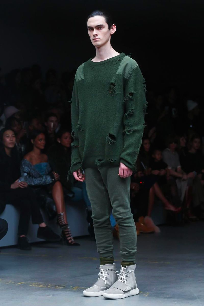 02c68d9dbfb Kanye West Unveils Yeezy Season 1 x Adidas Originals Collection with Boost  Sneakers During NYFW