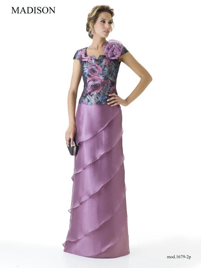 1679   Grupo Madison   Alta Costura   Pinterest   Vestido floreado ...