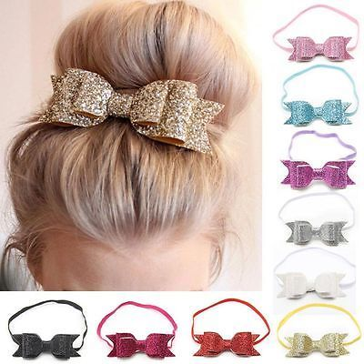 Hot Luxury Sequins Women Girls Big Bowknot Barrette Hairpin Hair Clips Hair Bow #babyhairaccessories