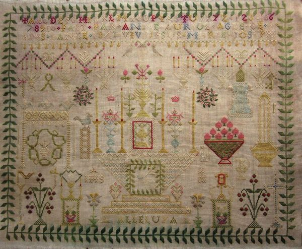 Http Gigir Canalblog Com Cross Stitch Samplers Vintage Samplers Primitive Fabric