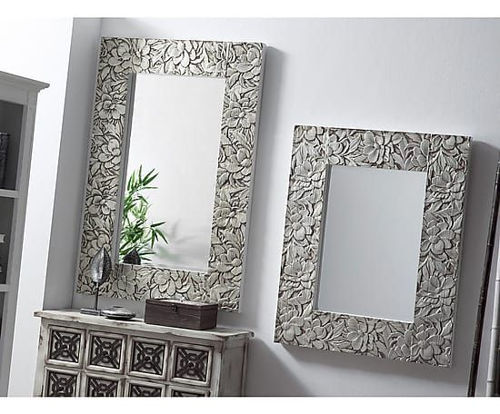 Espejo de madera de abeto texture plateado proyecto - Espejos modernos ...