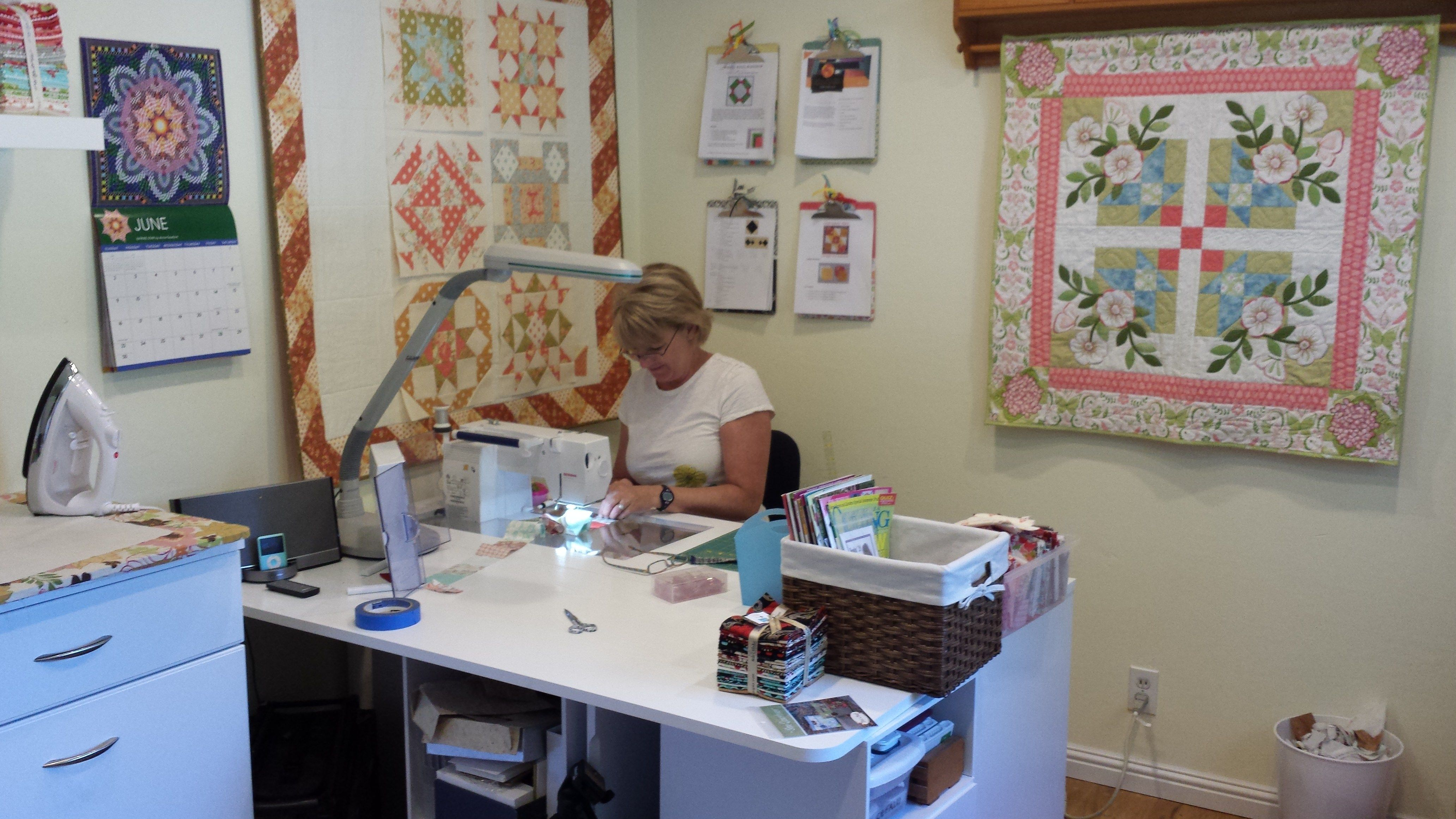 Sewing Room Designs: My Sewing Room Tour - The Crafty Quilter