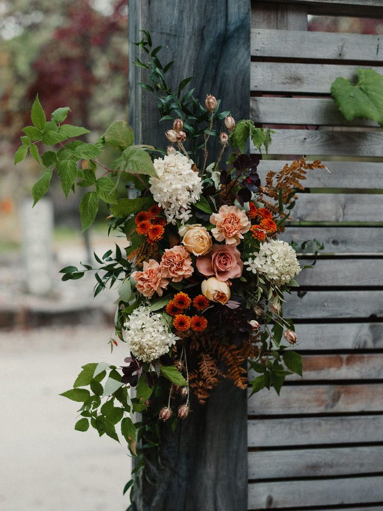 Intimate Fall Wedding At The Wakefield Grand In Wakefield Quebec In 2021 Fall Wedding Fall Flower Arrangements Fall Wedding Flowers