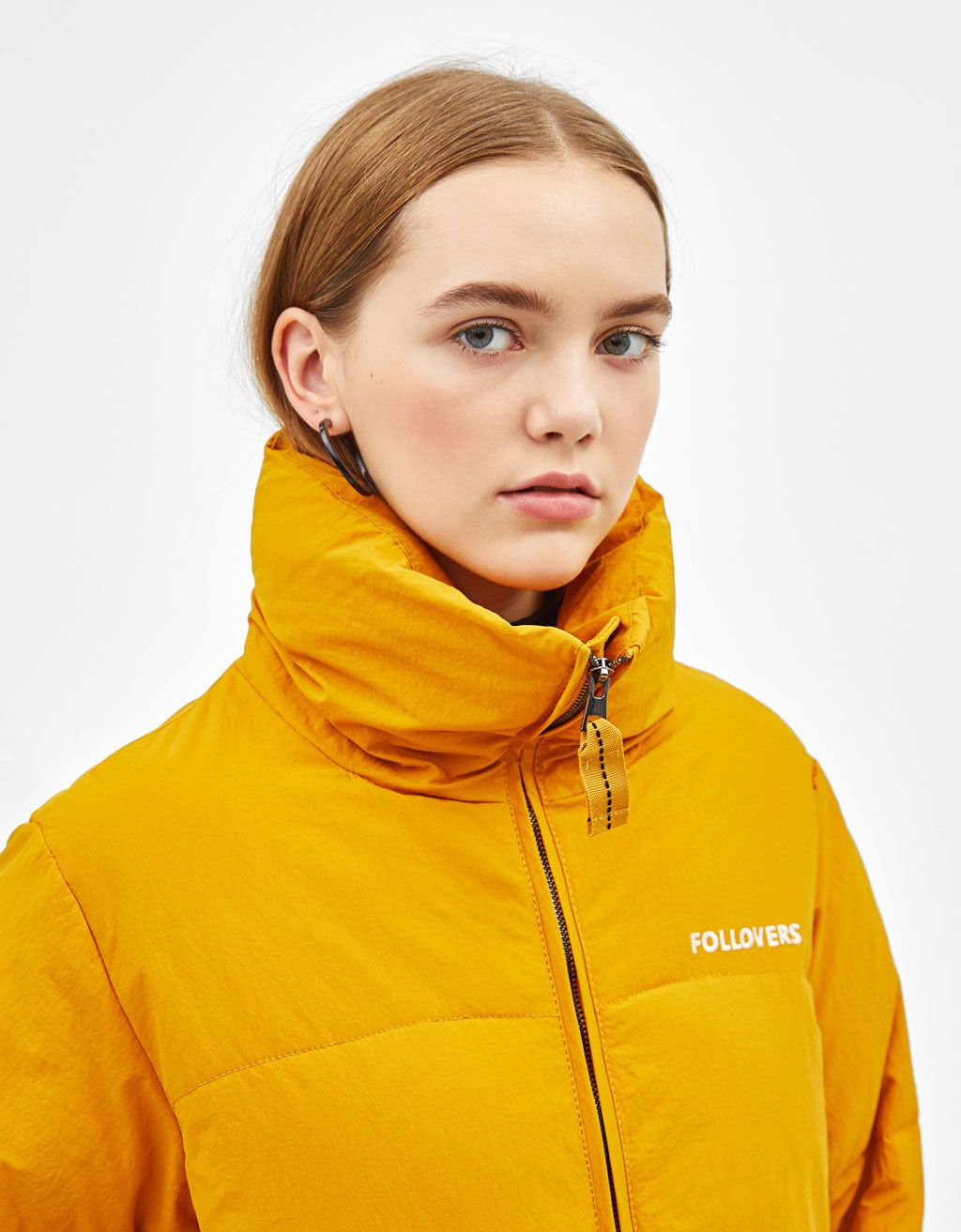 Followers Puffer Jacket Discover This And Many More Items In Bershka With New Products Every Week Jackets Puffer Jackets Reflective Jacket [ 1313 x 1024 Pixel ]